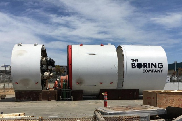 Un tunnelier Boring Company. C'est cet engin qui... (Photo The Boring Company)