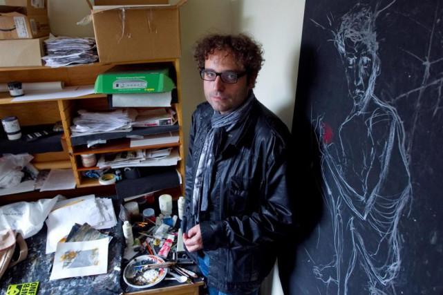 Theodore Ushev dans son studio à l'ONF... (Photo Alain Roberge, archives La Presse)
