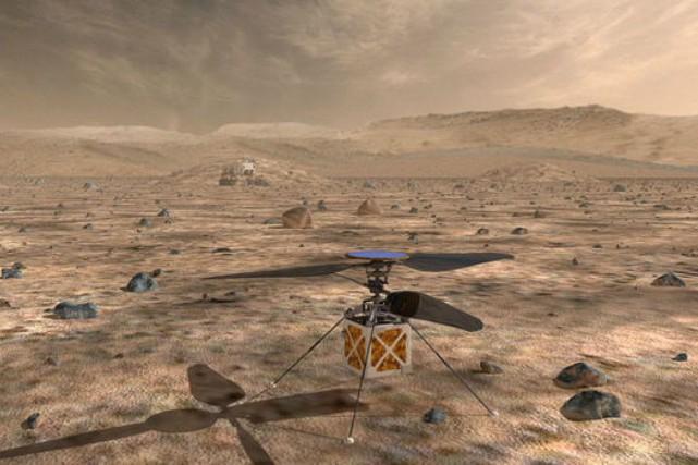 Sobrement baptisé The Mars Helicopter, cet appareil au... (ILLUSTRATION FOURNIE PAR LA NASA)