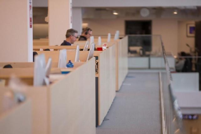La salle de rédaction de La Presse... (PHOTO IVANOH DEMERS, ARCHIVES LA PRESSE)