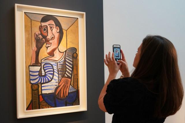 Le marin (1943) de Pablo Picasso... (Photo AFP)