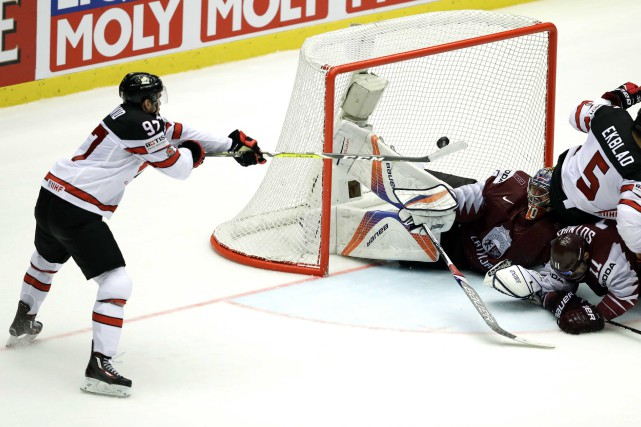 Connor McDavid a procuré la victoire au Canada... (Photo David W Cerny, Reuters)