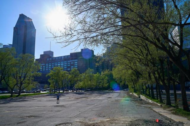 Le parc sera construit sur la portion du... (Photo André Pichette, La Presse)