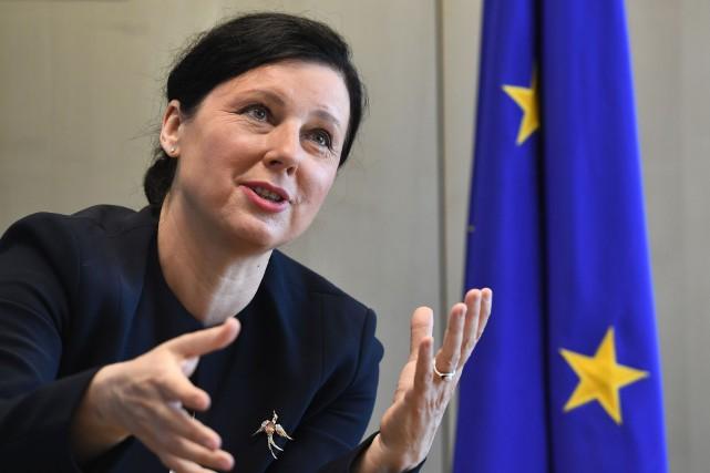 La commissaire européenne à la Justice Vera Jourova.... (AFP)