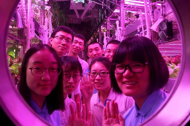 Ces volontaires ont habité dans ce laboratoire scellé... (BEIHANG UNIVERSITY NEWS CENTRE VIA AFP)