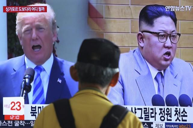 Donald Trump et Kim Jong-un doivent en principe... (Photo Ahn Young-joon, Associated Press)
