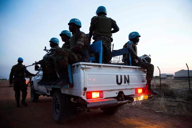 La force FISNUA compte quelque 4500 Casques bleus.... (Photo Albert Gonzalez Farran, archives Agence France-Presse)