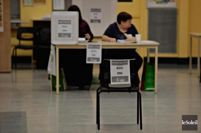 Historiquement, le taux de participation aux élections scolaires... (Photo Pascal Ratthé, archives Le Soleil)