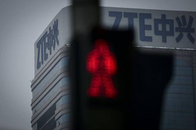 ZTE avait plaidé coupable en 2016 d'avoir réexporté... (Photo WANG Zhao, Agence France-Presse)