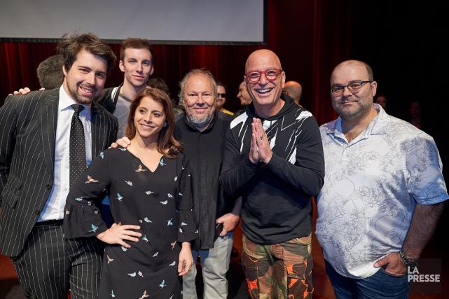 Philippe-Audrey Larrue-Saint-Jacques, Pier-Luc Funk. Anaïs Favron, Jean-Marc Parent,Howie... (Photo André Pichette, La Presse)