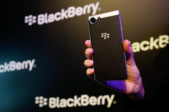 Le Blackberry Keyone de TCL.... (Photo Pau Barrena, archives Bloomberg)