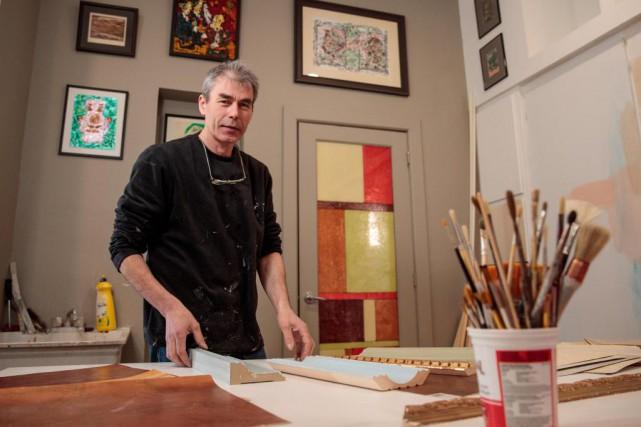 Peindre l'illusion, c'est ce que Fabrice Le Guern... (Photo Hugo-Sébastien Aubert, La Presse)