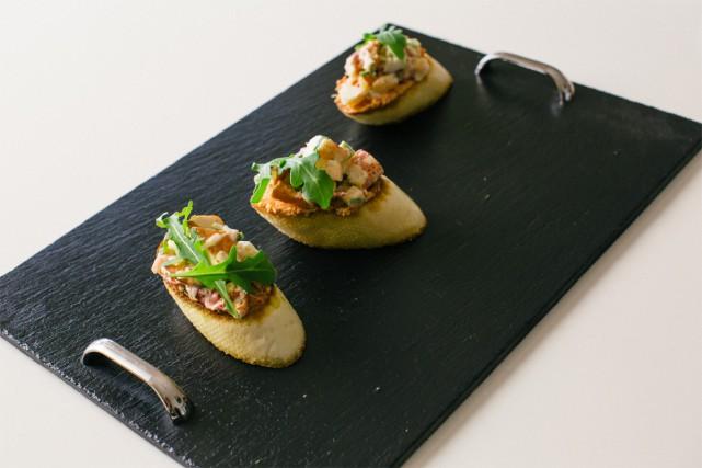 La bruschetta de homard, une recette de Joanne... (photo Nigel Quinn, collaboration spéciale)