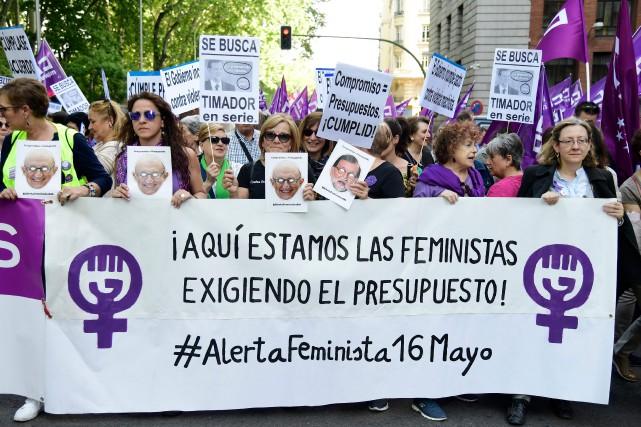L'Espagne vit un renouveau du mouvement féministe, qui... (Photo Javier Soriano, Agence France-Presse)