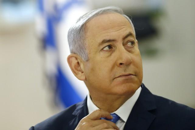 Le premier ministre israélien, Benyamin Nétanyahou.... (PHOTO AP)