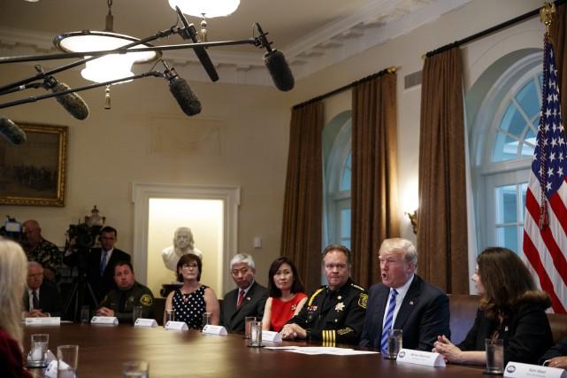 Donald Trump a tenu ces propos lors d'une... (PHOTO AP)