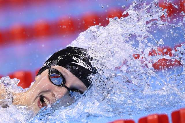 Katie Ledecky... (ARCHIVES AFP)