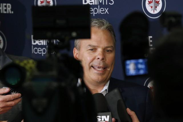 Le directeur généraldes Jets, Kevin Cheveldayoff.... (PHOTO PC)