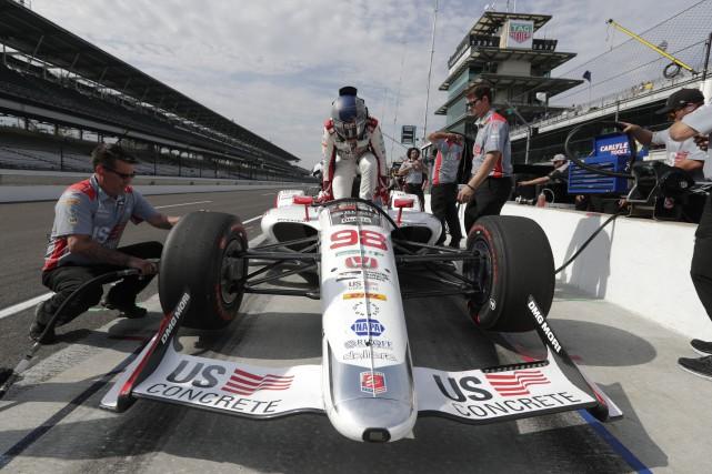 Marco Andretti a inscrit le meilleur chrono des... (AP)