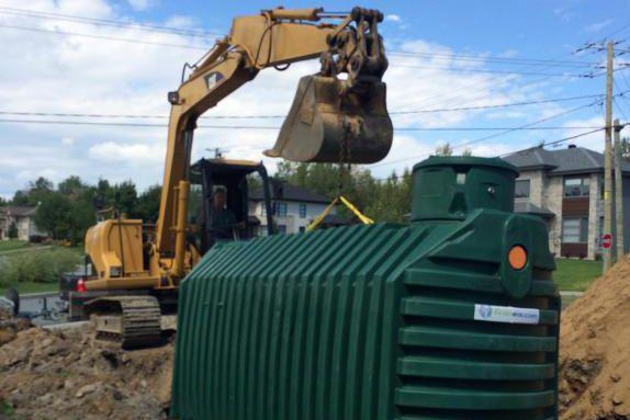 Réservoir d'eau de 6600L destiné à un système... (PHOTO FOURNIE PAR ÉCONEAU)