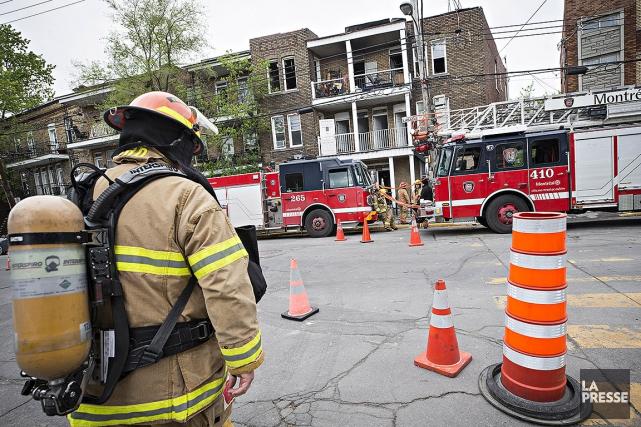 On ignore encore la cause de l'incendie.... (Patrick Sanfaçon, La Presse)