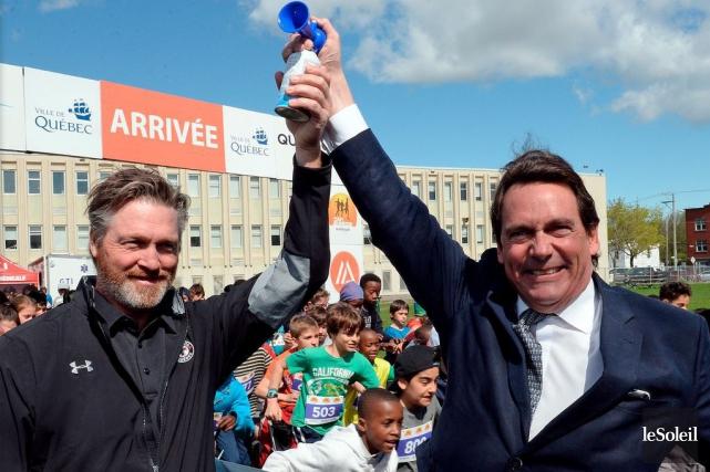 L'entraîneur-chef des Remparts de Québec, Patrick Roy, et... (Photo Erick Labbé, Le Soleil)