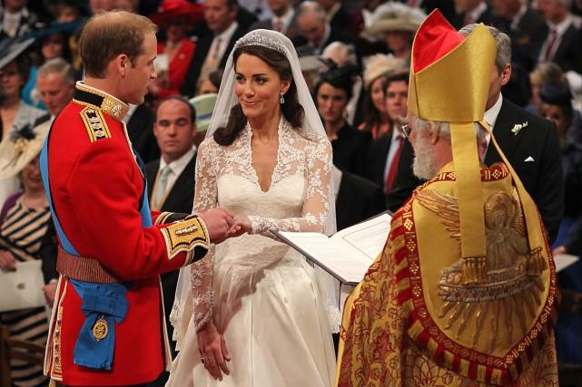 En 2011, le mariage entre le prince William... (Photo archives AFP)