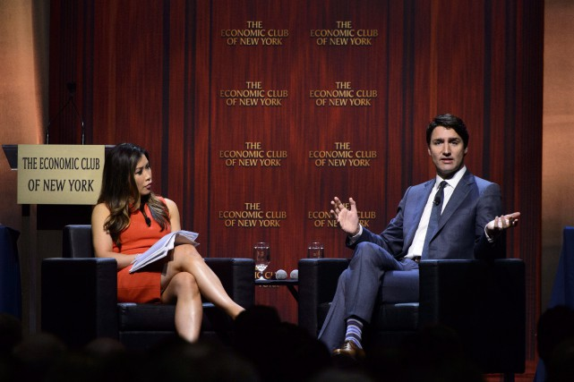 Justin Trudeau a participé à une discussion animée... (PHOTO PC)
