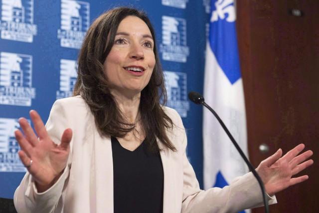 Martine Ouelletsera à Chicoutimi, vendredi avant-midi, pour présenter... (ARCHIVES PC)