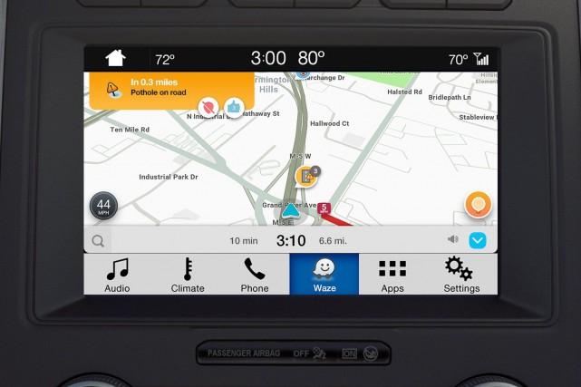 Une nouvelle fonctionnalité, permet de projeter l'application sur... (Photo Ford)