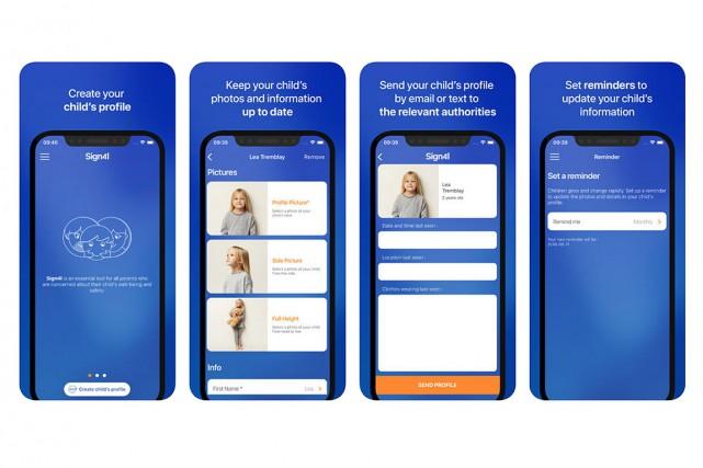 Capture d'écran de l'application offerte sur le site...