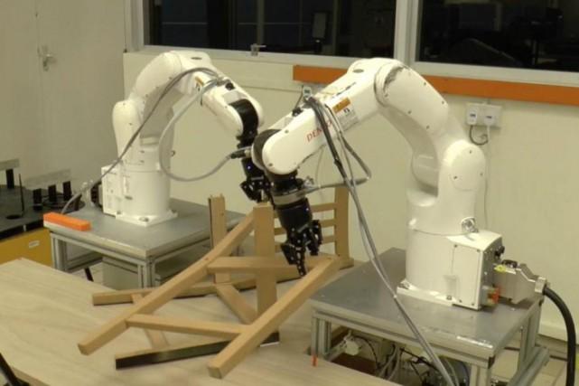 Les robots ont mis en moyenne20minutes à assembler... (Photo fournie par FranciscoSuárez-Ruiz et PhamQuang-Cuong,Université technologique Nanyang)