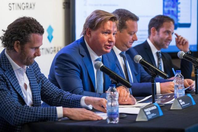 Eric Boyko (au centre)... (PHOTO SIMON GIROUX, ARCHIVES LA PRESSE)