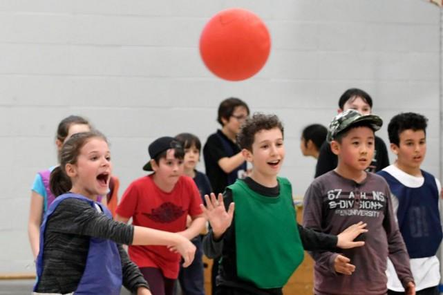 Une expérience inusitée... Les élèves d'une classe de... (Photo Bernard Brault, La Presse)