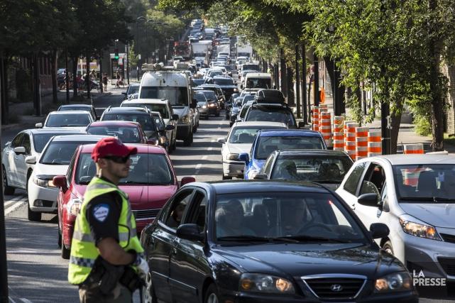 Les bouchons font rager les automobilistes. En plus,... (PHOTO EDOUARD PLANTE-FRECHETTE, La Presse)