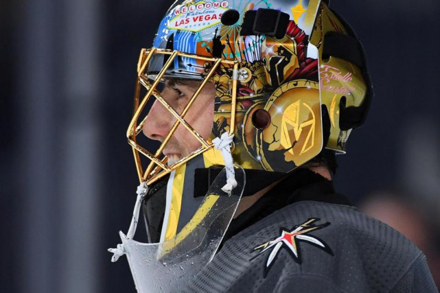 Marc-André Fleury a mené les Golden Knights de Vegas... (Photo Stephen R. Sylvanie, archives USA TODAY Sports)