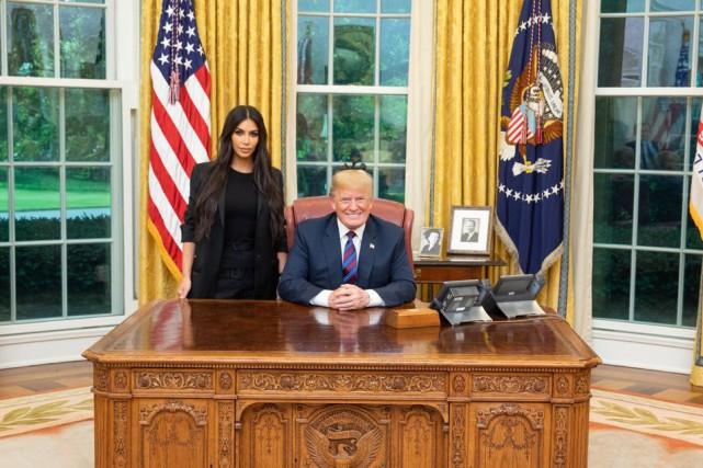 Kim kardashian dans le bureau ovale États unis