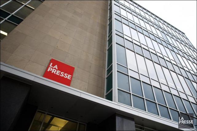 Le logo de La Presse,à l'entrée principale des... (André Pichette, archives La Presse)
