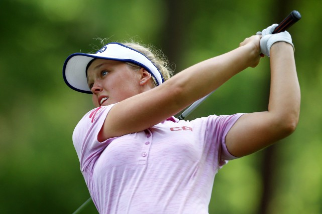 Brooke Henderson, âgée de 20 ans, était à... (Photo Butch Dill, Associated Press)