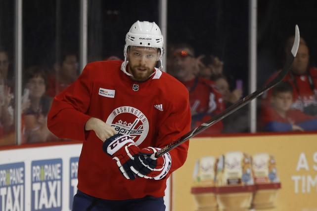 Evgeny Kuznetsov (photo) a participé à l'entraînement optionnel... (Photo Pablo Martinez Monsivais, Associated Press)