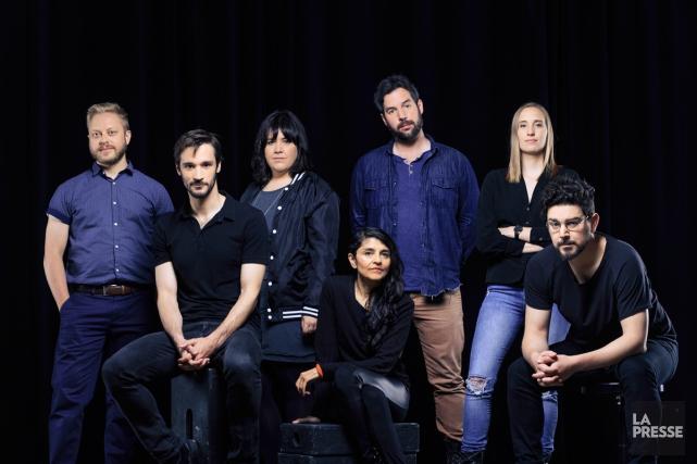 Guillaume Lambert,Pascal Plante,Jeanne Leblanc,Eisha Marjara,Samuel Matteau,Sophie Dupuis etIan... (PHOTO ÉDOUARD PLANTE-FRECHETTE, LA PRESSE)