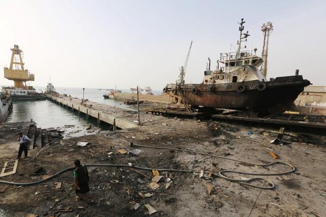 L'offensive est appuyée par l'aviation de la coalition... (Photo Abduljabbar Zeyad, REUTERS)