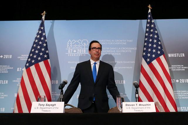 Le secrétaire américain du Trésor, Steven Mnuchin, a... (PHOTO BEN NELMS, REUTERS)