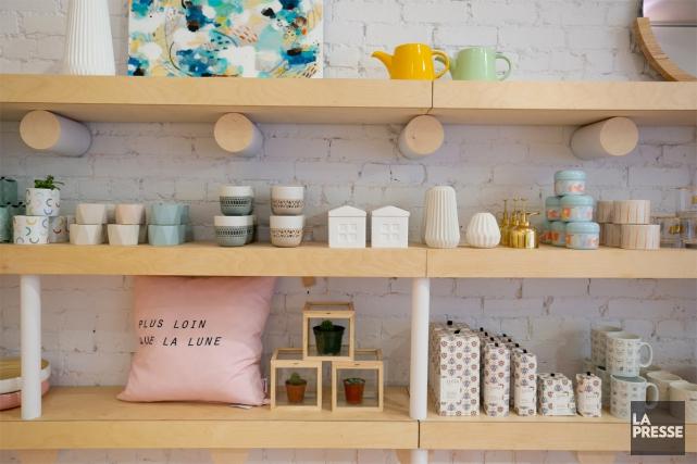 Dans la nouvelle boutique du Vestibule, le concept... (PHOTO DAVID BOILY, LA PRESSE)
