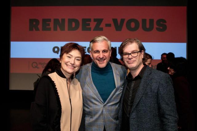 Dominique Dugas, DG des RVQC (à droite), en... (Photo Hugo-Sébastien Aubert, La Presse)