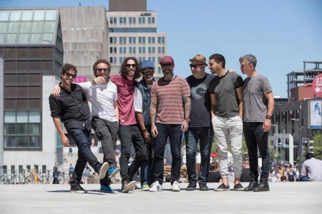 Les membres du groupe montréalais The Brooks... (Photo Patrick Sanfaçon, La Presse)