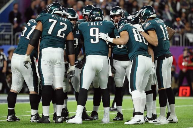 Les Eagles de Philadelphie ont remporté le Super... (PHOTO AFP)