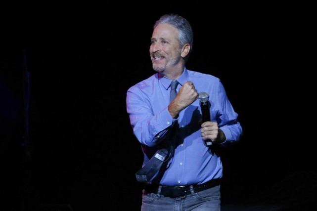 Jon Stewart... (photo Brent N. Clarke, archives associated press)