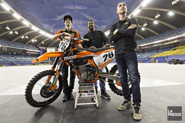 Kaven Benoit, Malcolm Stewart et Jean-Sébastien Roy... (Photo Patrick Sanfacon, La Presse)