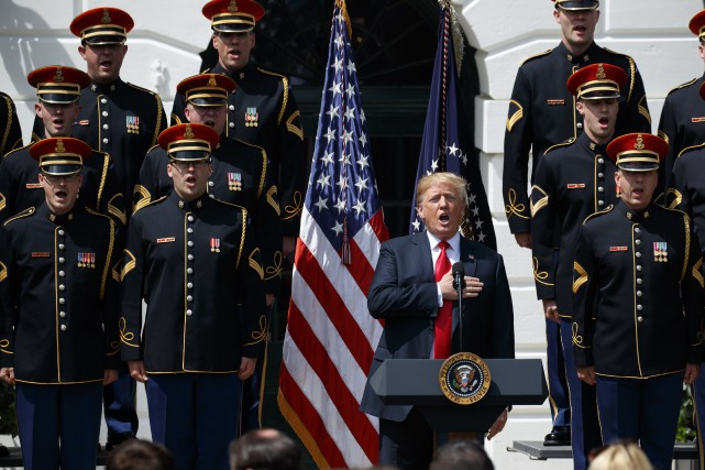 Donald Trump a organisé une grandiloquente célébration du... (PHOTO AP)
